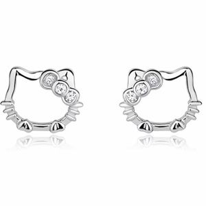 Hello Kitty Sterling Silver 925 Earrings Girls